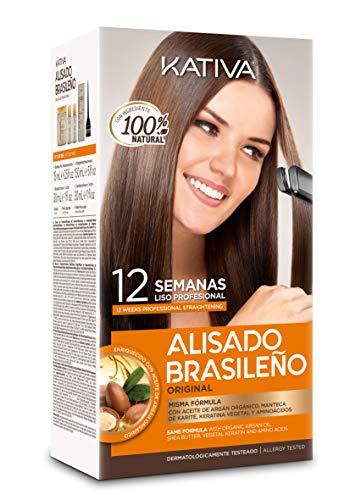 Kativa Keratina y Argán P9000175 Kit de Alisado Brasileño, 150 ml